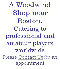 A Woodwind Shop near Boston.